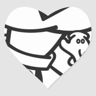 SwaGGed Out RoCKet Heart Sticker