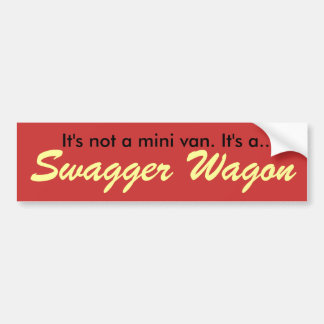 Swagger Wagon Car Bumper Sticker