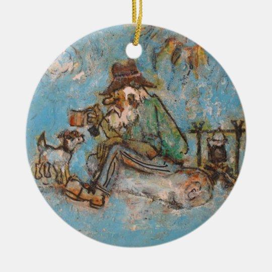 Swaggie's Aussie Bush Christmas Ceramic Ornament