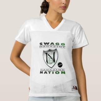 Swaggnation Magazine.com Woman's white Jersey