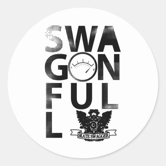 SwagOnFull Classic Round Sticker