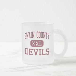 Swain County - Devils - High - Bryson City 10 Oz Frosted Glass Coffee Mug