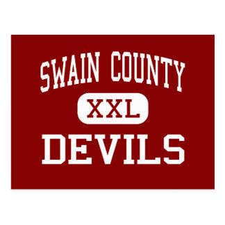 Swain County - Devils - High - Bryson City Postcard