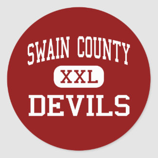 Swain County - Devils - Middle - Bryson City Classic Round Sticker