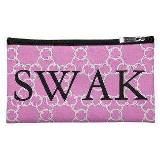SWAK Pink Love Links Designer Cosmetic Bag