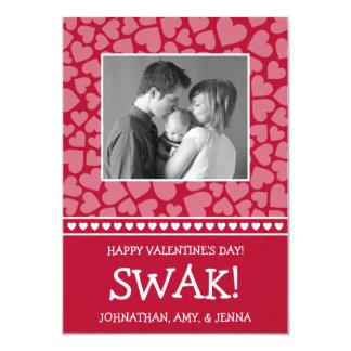 SWAK! Valetine's Day Photo Card (Dark Red)
