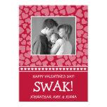 SWAK! Valetine's Day Photo Card (Dark Red) Invites