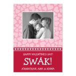 SWAK! Valetine's Day Photo Card (Dark Red / Pink) Announcement