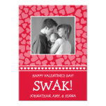 SWAK! Valetine's Day Photo Card (Red) Invites