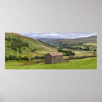 Swaledale el poster de los valles de Yorkshire
