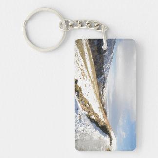 Swaledale hivernal llavero rectangular acrílico a doble cara