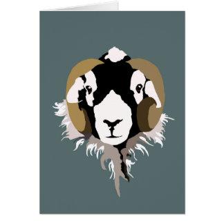 Swaledale Sheep Card