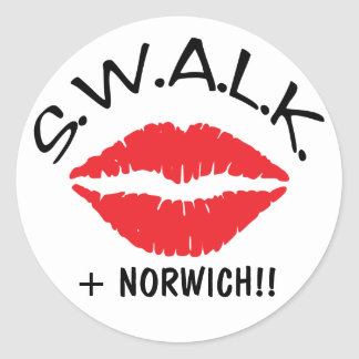 SWALK - Sealed With A Loving Kiss envelope sealers Classic Round Sticker