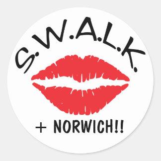 SWALK - Sellado con los selladores cariñosos de un Pegatina Redonda