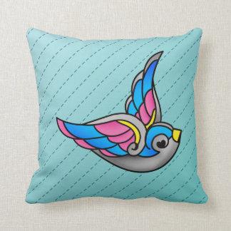 swallow (2) throw pillow