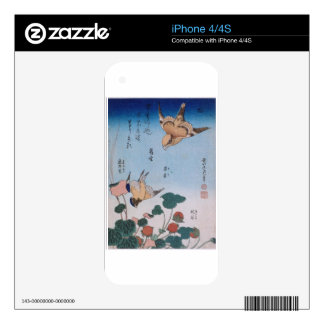 Swallow and begonia and strawberry pie Katsushika Skin For The iPhone 4