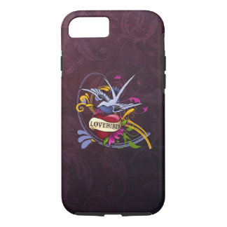 Swallow and Heart Tattoo Art iPhone 8/7 Case