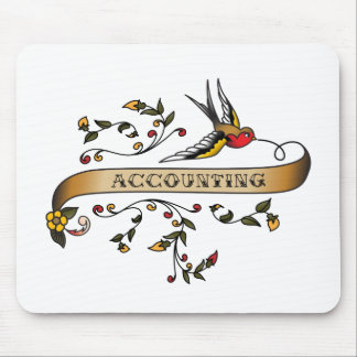 Swallow and Scroll with Accounting Mouse Pad