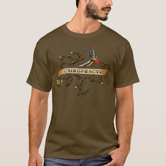 Swallow and Scroll with Chiropractic T-Shirt