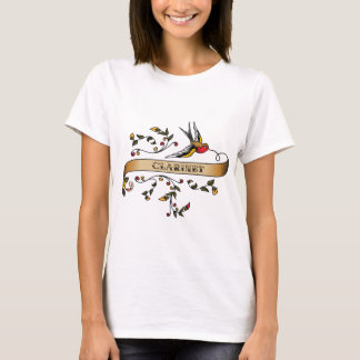 Swallow and Scroll with Clarinet T-Shirt