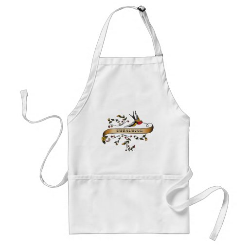 Swallow and Scroll with Embalming Adult Apron