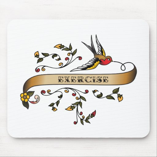 Swallow and Scroll with Exercise Mouse Pad