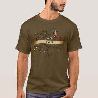 Swallow and Scroll with Film T-Shirt