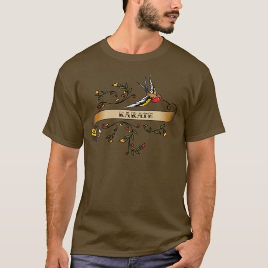 Swallow and Scroll with Karate T-Shirt