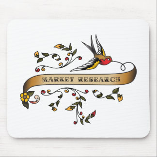 Swallow and Scroll with Market Research Mouse Mat