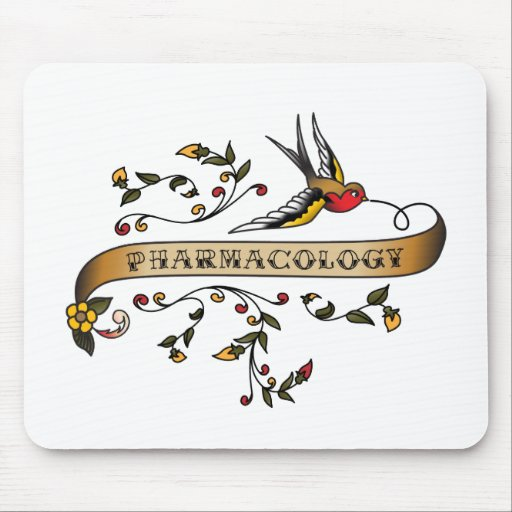 Swallow and Scroll with Pharmacology Mouse Pad