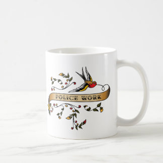 Swallow and Scroll with Police Work Coffee Mug