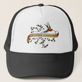 Swallow and Scroll with Polymer Chemistry Trucker Hat