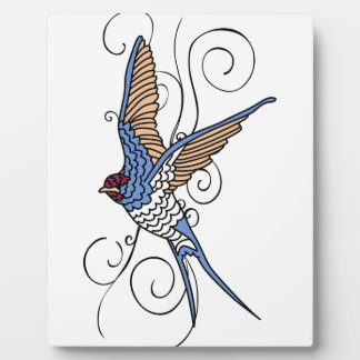 SWALLOW AND SWIRLS PLAQUE