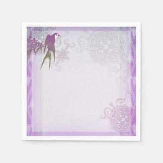 Swallow bamboo purple leaf vine paper napkin