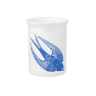 Swallow Bird Blue Pitchers