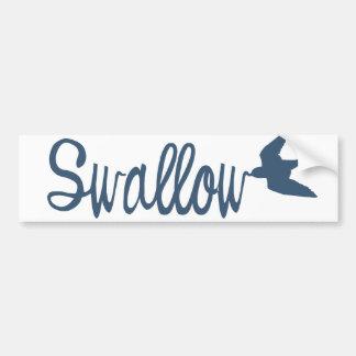 Swallow Bird Car Bumper Sticker