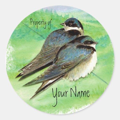 Swallow, Bird, Nature, Wildlife Watercolor Sticker