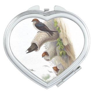 Swallow Birds Wildlife Animals Compact Mirror
