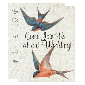 Swallow Birds Wildlife Animals Wedding Invitation