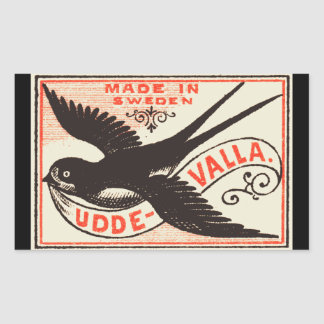 Swallow Bookplate Sticker