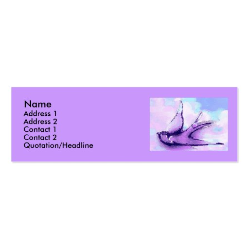 swallow by night business cards