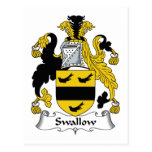 Swallow Family Crest Post Cards