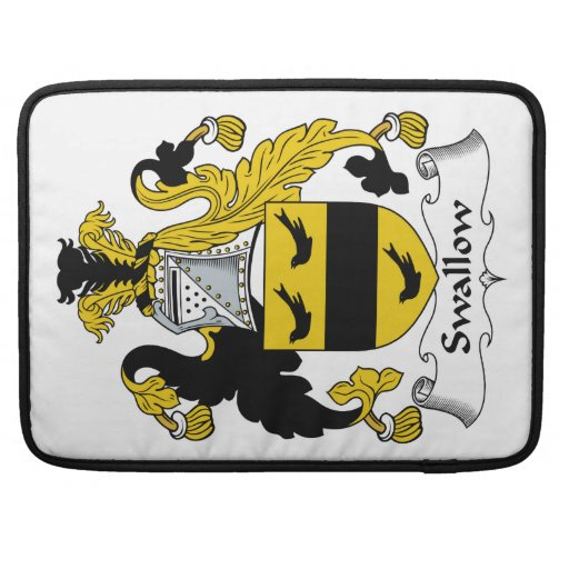 Swallow Family Crest Sleeves For MacBooks