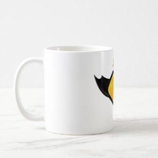 Swallow Girl Superhero Logo Coffee Mug mug