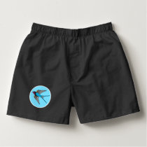 Swallow in blue sky boxers