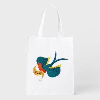 Swallow in Love Grocery Bag