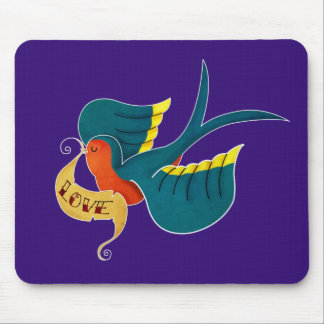 Swallow in Love Mouse Pad