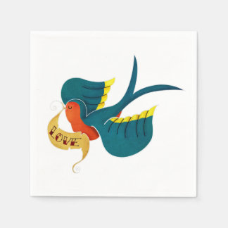 Swallow in Love Paper Napkin