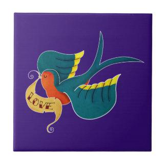 Swallow in Love Tile