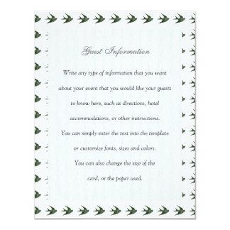 Swallow (Letterpress Style) 4.25x5.5 Paper Invitation Card